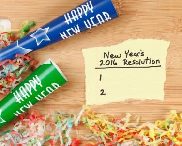Blank 2016 New Year Resolution List